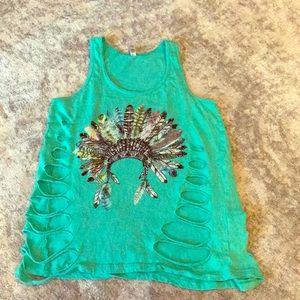 Tops - 3/$12 Turquoise women's tank